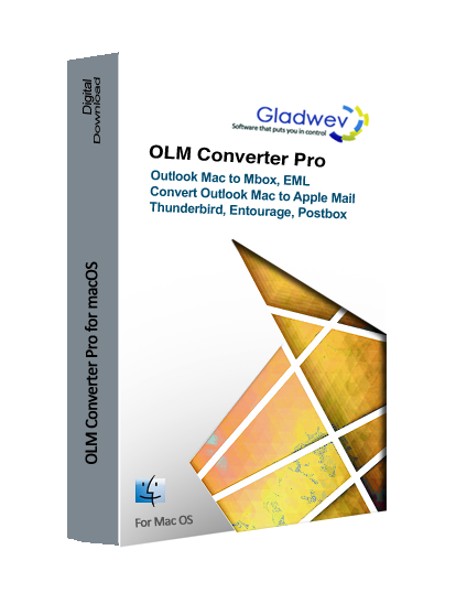 Gladwev® OLM Converter Pro to Convert OLM to MBOX, Apple Mail, Mac