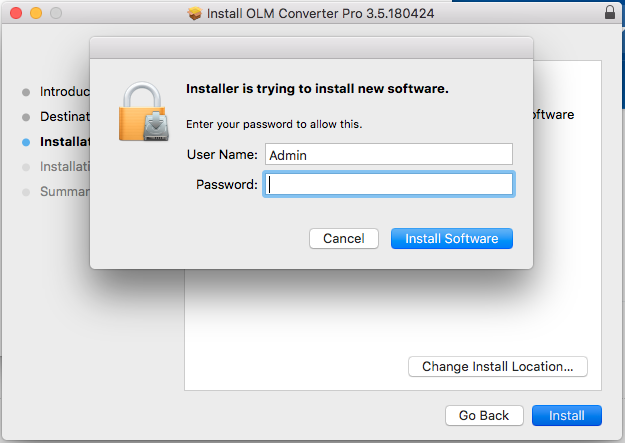 Export OLM to Apple Mail