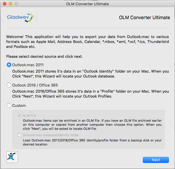 How to Convert Outlook 2011 to Mac Mail? Install OLM