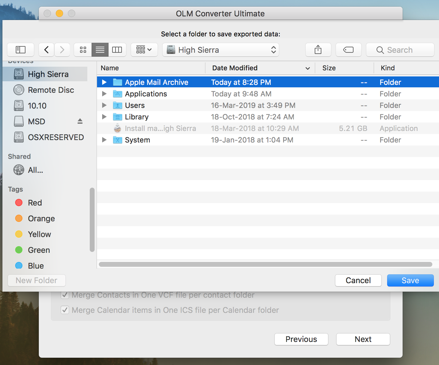 how to convert outlook 2011 to mac mail